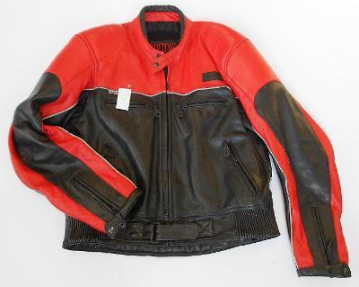 Kožená bunda BRIXTON- vel. XL, chrániče ramen, zad