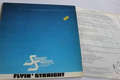 Straight Shooter – Flyin' Straight LP 1981 vinyl Germany Hard Rock EX