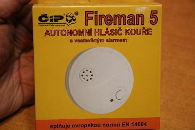Autonomní  hlásič kouře Fireman 5