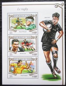 Niger 2015 Rugby Mi# 3578-80 Kat 13€ 1756
