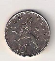 Velká Británie 10 Pence 2001