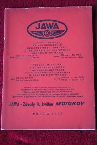 Origo LIBENAK  návod seznam soutěžní JAWA JAWA 250 579 350 575 1963