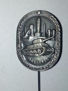 Odznak  10 výroči osvobození Ostravy 1945 - 1955