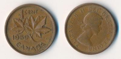 Kanada 1 cent 1959