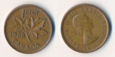 Kanada 1 cent 1958