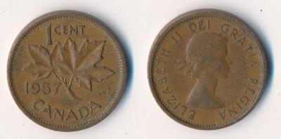Kanada 1 cent 1957
