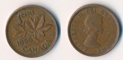 Kanada 1 cent 1955