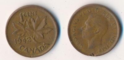 Kanada 1 cent 1942