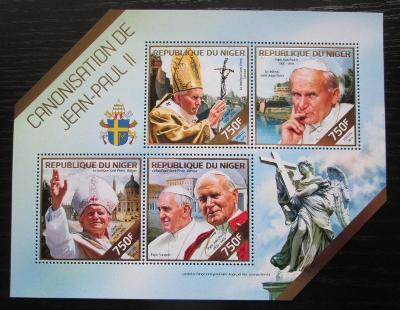 Niger 2014 Papež Jan Pavel II. Mi# 2890-93 Kat 12€ 1804