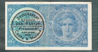 1 koruna 1940 STROJOVÝ PŘETISK serie A050