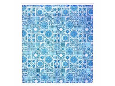 Sprchový závěs ZULA 180x200 cm, polyester, mozaika