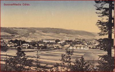 Odry (Odrau) * celkový pohled na město * Nový Jičín * M668