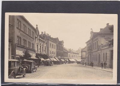Kladno ulice auta 1949