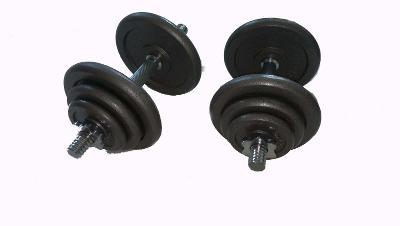 Jednoruční činky 2x15 kg