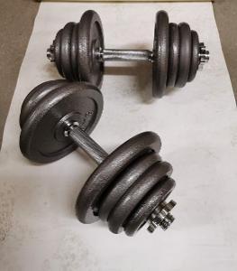 Jednoruční činkový set 2x25 kg