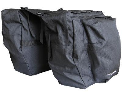 Cyklo brašna MAXBIKE na nosič 2-dílná, černá