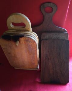 Sada kuchyňských, dřevěných prkének/7 ks....(10196)