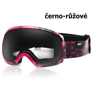 Lyžařské brýle SPOKEY Radium - černo-růžové