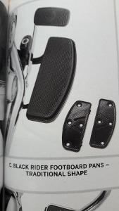 Harley Davidson náhradní gumová část plotny