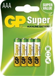 Baterie GP Super Alkaline LR03 (AAA,  mikrotužka) 4.Kusy