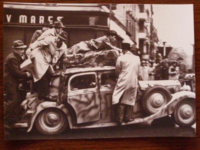 MERCEDES BENZ - reprofoto MB Praha 1945 - velký formát