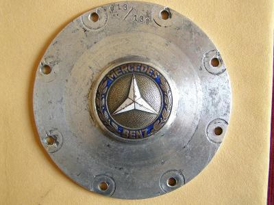 Oldtimer MERCEDES BENZ - znak logo MB smalt / značený original díl