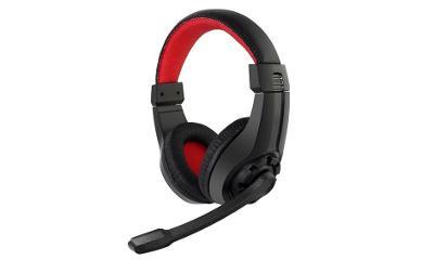 GEMBIRD sluchátka s mikrofonem GHS-01, gaming, black