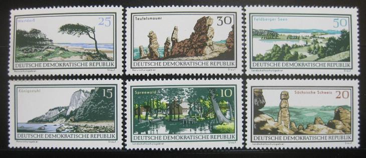 DDR 1966 Přírodní rezervace Mi# 1179-84 1647 - Filatelie
