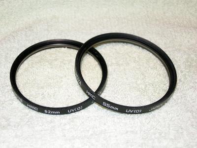 Konvolut filtrů HOYA HMC (52 a 55mm)