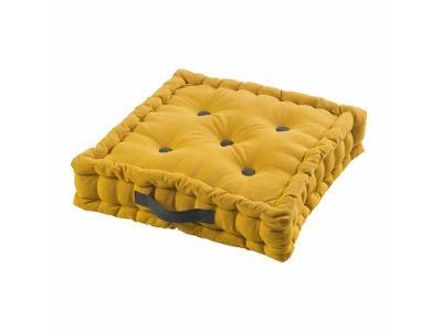 Podlahový polštář PACHA, 45 x 45 x 10 cm, žlutá