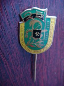 Odznak; 25 let OKR OU dolu Dukla; Havířov; škola; hornictví; doly;