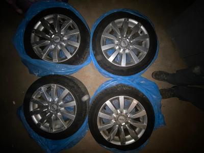 Alu kola MAM7 silver 75x16, 7,5Jx16H2, 5/100/57,1, Michelin 195/55 R16