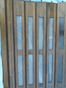 Lamelové dveře dřevěné zasouvaci