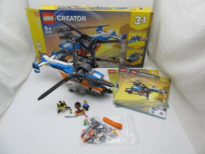 Lego set  Creator 31096 - Helikoptéra se dvěma rotory, krabice navody