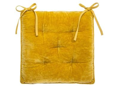 Polštář Velurové židle 38 x 38 cm žlutý
