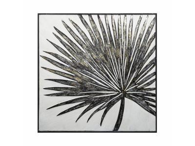 Dekorace na stěnu deco s motivem palmového listu,