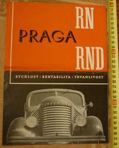 STARÝ PROSPEKT LETÁK AUTOMOBIL PRAGA RN RND