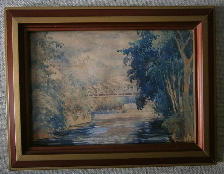 Šenov u Ostravy (akvarel, 1928) - Umění