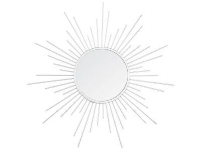 Dekorativní zrcadla, kov, 3 kusy, bílá