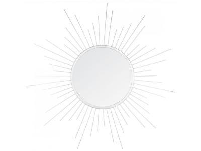 Sluneční dekorativní nástěnné zrcadlo, Ø 60 cm, bí