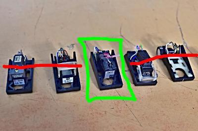 1ks hlavička přenosky Dual TK 220 - TK 24 pro gramofon (177467-88)