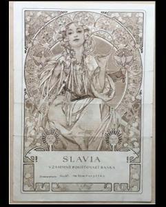 SLAVIA, vzajemné poštovavi banka, MUCHA, 1940, Ori