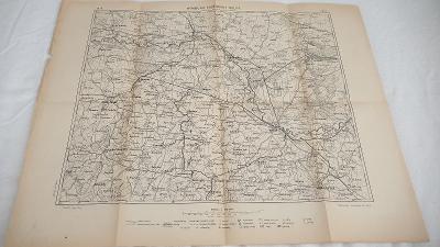 Podrobná mapa Království Českého1910-Nymburk-Poděbrady-Kolín-Kutná Hor