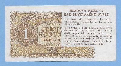 1 Kčs - 1953 - HLADOVÁ KORUNA - VYNIKAJÍCÍ KVALITA - ORIGINÁL