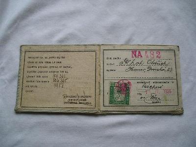 ST.TECHNICKÝ PRŮKAZ NA MOTO JAWA TYP 550 ROK 1958 TOP STAV