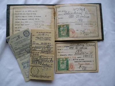 ST.TECHNICKÝ PRŮKAZ NA MOTO JAWA TYP 555 ROK 1958 TOP STAV