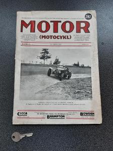 Motor MOTOCYKL 1927 číslo 16 MOTORKA SANITKA ! to jsem fakt nevěděl !