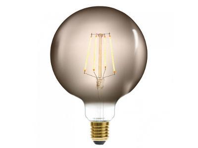 Dekorativní LED žárovka UDENÁ, G125 4W, barva šedá