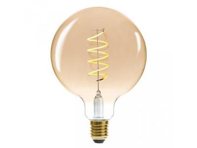 Dekorativní žárovka LED SOFT AMBER, G125 4W, barva