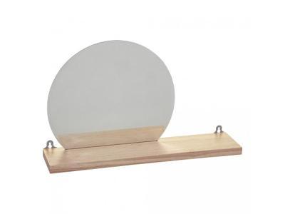Dekorativní police se zrcadlem 45x30x10 cm